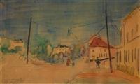 rue animée à boitsfort (1911/1912) by rik wouters