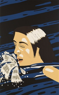 olympic swimmer by alex katz