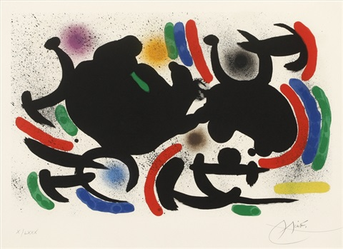 from lithograph i by joan miró