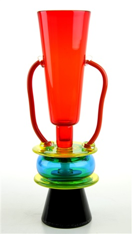 A Multicoloured Handblown Glass Vase By Ettore Sottsass On Artnet