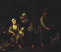 bauernfamilie in der stube by german school-frankfurt (18)
