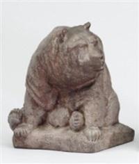 sittande björn by carl vilhelm fagerberg