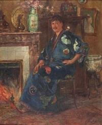homme en kimono by edouard verschaffelt