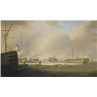 the re-opening of sheerness dockyards by william john huggins