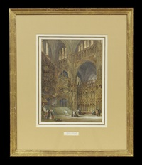 rouen cathedral and toledo cathedral (pair) by joseph josiah dodd