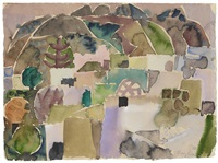 ischia. landschaft am epomeo by eduard bargheer