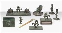 desk set (8 works) by ystad metall