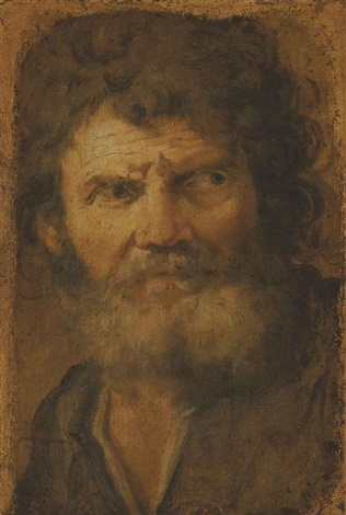 head of an old man by pier francesco mola