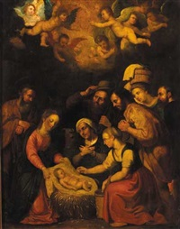 nativity with adoration of the shepherds and midwives by flemish school (20)