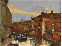 rio dei mendicanti, venice by ken howard