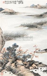 沧浪渔笛 (landscape) by jiang yinqiu