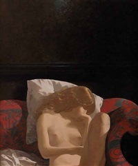 young girl asleep by neil rodger