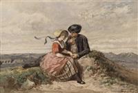 liebespaar am dorfrand by adolf alexander dillens