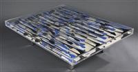 table basse mali aux encriers bleus et noirs by arman