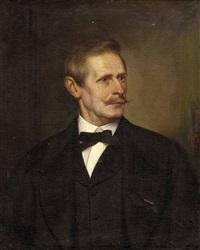 porträt von max pflügl edler von leiden (linz 1860 - 1939 salzburg) by joseph mathäus aigner