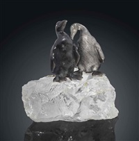 two penguins by fabergé (co.)