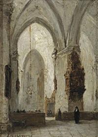 a church service by johannes bosboom