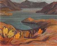 kalamalka lake, looking south by henry george glyde