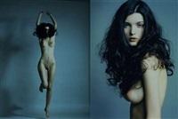 jeune femme brune nue sautant (+ portrait; 2 works) by bruno fabbris