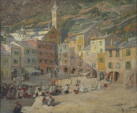 procession in portofino by pauline palmer