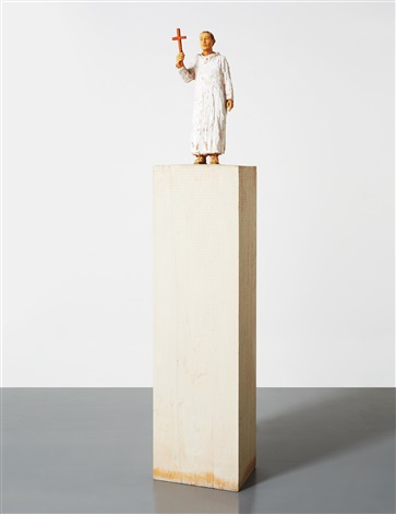 column figure iv monk by stephan balkenhol