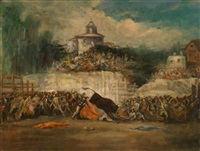 stierkampfszene by francisco de goya