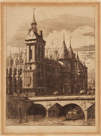 la tour de lhorloge paris by charles meryon