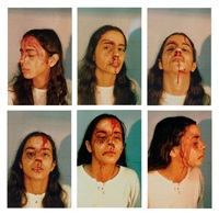 untitled (self-portrait with blood) (6 works) by ana mendieta