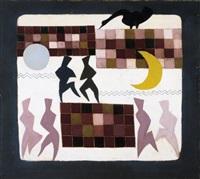 compositie met figuren by jean emile oosterlynck