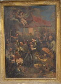saint charles borromée administrant la communion aux indigents by pietro da cortona