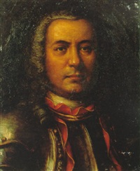 portrait of a gentleman wearing armour by miguel alonso de tovar