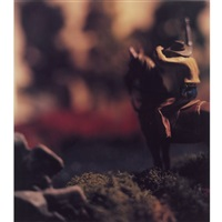 the wild west (rifleman on horseback) by david levinthal
