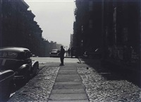 three men standing on a corner, morning by roy decarava