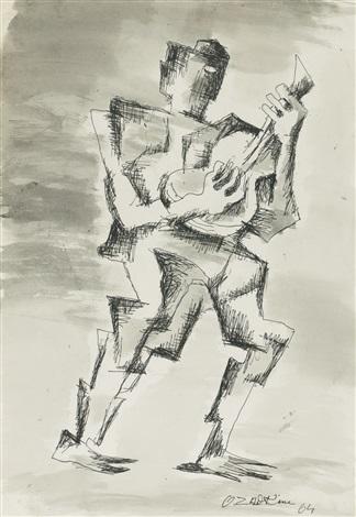 le guitariste by ossip zadkine
