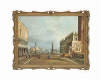 the piazetta, venice by francesco guardi
