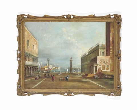 the piazetta venice by francesco guardi