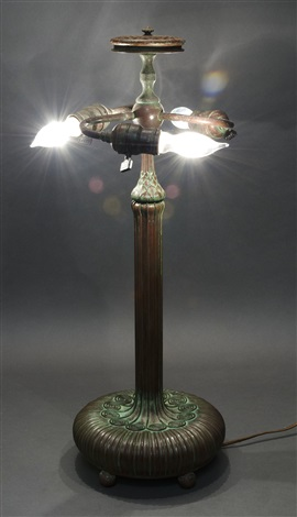 Tiffany Studios Bronze Table Lamp Base Model 362 By Tiffany Studios