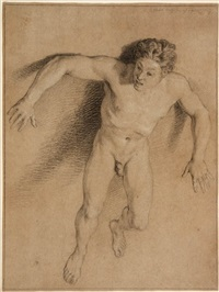 study of a male nude by bernard picart