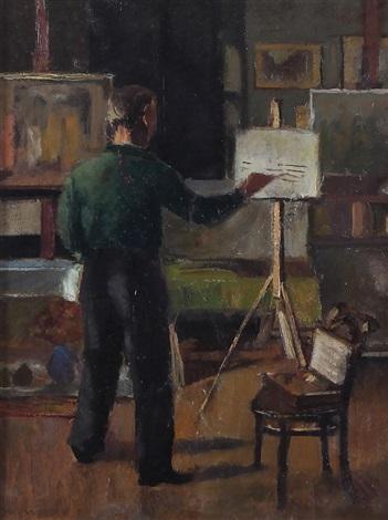 il pittore nello studio by metello merlo