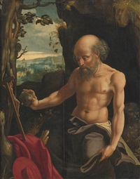 st. jerome in penitence by flemish school-antwerp (16)