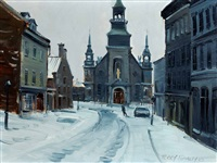 bonsecours street, old montreal by terry tomalty