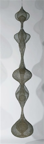 untitled hanging six lobed multi layered continuous form within a form by ruth asawa
