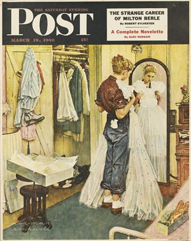 the saturday evening post 4 works by norman rockwell