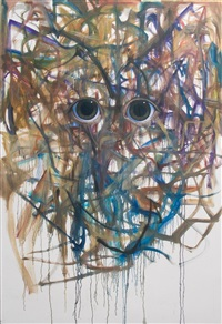untitled (keane eyes) by jim shaw