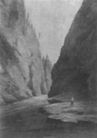 fisherman in a gorge by charles lanman