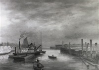 portland harbour by charles frederick kimball