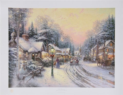 village christmas by thomas kinkade
