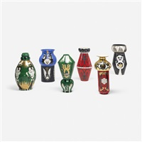 vases, set of six by massimo giacon and marco zanini