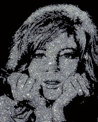 monica vitti (from pictures of diamonds) by vik muniz