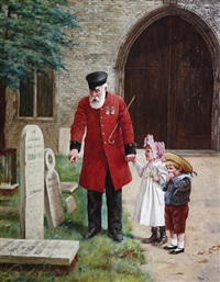 a walk with grandpa by augustus edwin mulready